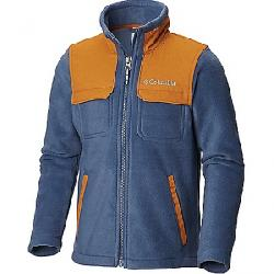 Columbia Youth Boys Steens Mountain Novelty Full Zip Fleece Jacket Dark Mountain / Canyon Gold