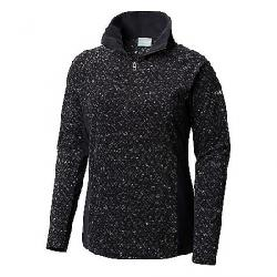 Columbia Women's Glacial IV Printed 1/2 Zip Top Black Tweed
