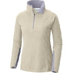 Columbia Women's Glacial IV Printed 1/2 Zip Top Light Bisque Diamond Quilt