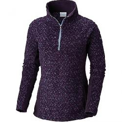 Columbia Women's Glacial IV Printed 1/2 Zip Top Dark Plum Tweed