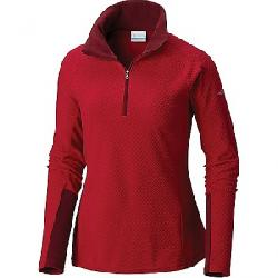 Columbia Women's Glacial IV Printed 1/2 Zip Top Pomegranate Diamond Quilt