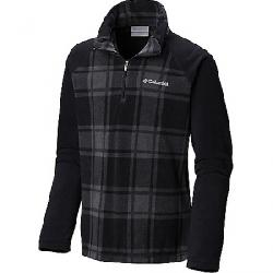 Columbia Youth Boys Glacial III Fleece Printed Half Zip Top Black Check