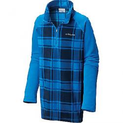 Columbia Youth Boys Glacial III Fleece Printed Half Zip Top Super Blue Check