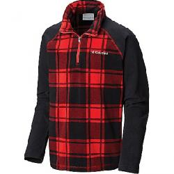 Columbia Youth Boys Glacial III Fleece Printed Half Zip Top Red Spark Check