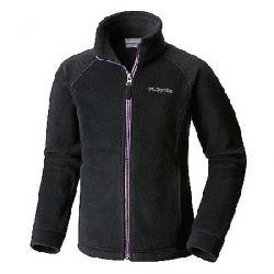 Columbia Youth Girls' Benton Springs II Printed Fleece Jacket Black / Tiki Pink