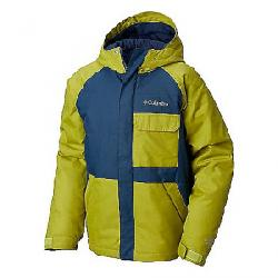 Columbia Youth Boys Casual Slopes Jacket Coll Navy / Python Green Heather