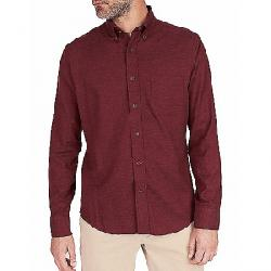 Faherty Melange Oxford Long Sleeve Shirt Burgundy