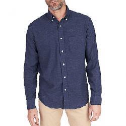 Faherty Melange Oxford Long Sleeve Shirt Navy