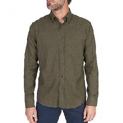 Faherty Melange Oxford Long Sleeve Shirt Spruce