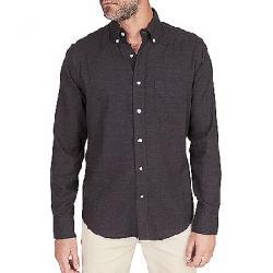 Faherty Melange Oxford Long Sleeve Shirt Washed Black