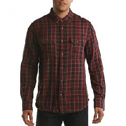 Jeremiah Men's Boulder Reversible Plaid with Stripe LS Shirt Oxblood