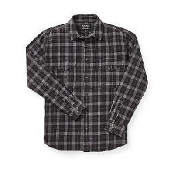 Filson Men's Lightweight Alaskan Guide Shirt Heather Gray / Black