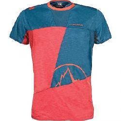 La Sportiva Men's Workout T-Shirt Cardinal Red / Lake