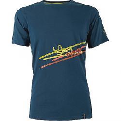 La Sportiva Men's Stripe 2.0 T-Shirt Ocean / Citronelle