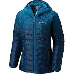 Columbia Women's Voodoo Falls 590 TurboDown Hooded Jacket Lagoon Gradient Print