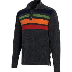 Woolrich Men's Half Snap Blanket Sweater II Charcoal