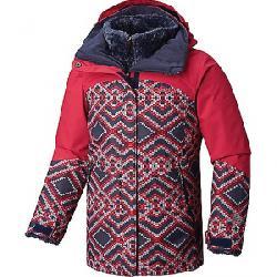 Columbia Youth Girls Bugaboo II Fleece Interchange Jacket Nocturnal Microgeo Print