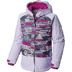 Columbia Youth Girls Mighty Mogul Jacket Soft Violet Geo Print