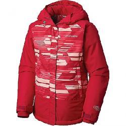 Columbia Youth Girls Mighty Mogul Jacket Pomegranate Geo Print