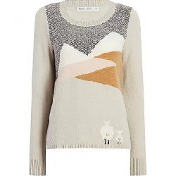 Woolrich Women's Woolrich Motif Sweater Salt Water Grey
