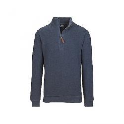 Woolrich Men's Bromley Half Zip Blue Charcoal Heather