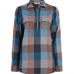 Woolrich Women's Any Point Convertible Flannel Shirt Mountain Blue Multi