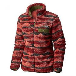 Columbia Women's Mountain Side Heavyweight Fleece Full Zip Garnet Red Print