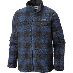 Columbia Men's Mountain Side Heavyweight Full Zip Fleece Jacket Dark Mountain Plaid