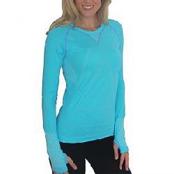 Zensah Women's Run Seamless L/S Shirt Heather Aqua