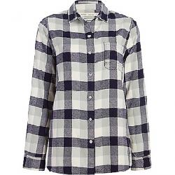 Woolrich Women's Eco Rich Pemberton Boyfriend Shirt Outer Space Check