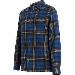 Woolrich Men's Eco Rich Dellaro Waffle Shirt Alpine Blue