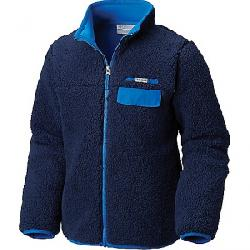 Columbia Youth Mountain Side Heavyweight Full Zip Fleece Top Collegiate Navy / Super Blue