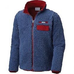 Columbia Youth Mountain Side Heavyweight Full Zip Fleece Top Dark Mountain / Red Element