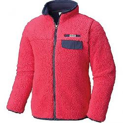 Columbia Youth Mountain Side Heavyweight Full Zip Fleece Top Cactus Pink / Nocturnal