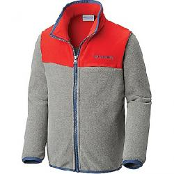 Columbia Youth Mountain Crest Fleece Full Zip Top Charcoal Heather / Red Spark