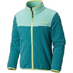 Columbia Youth Mountain Crest Fleece Full Zip Top Emerald Heather / Pixie Heather