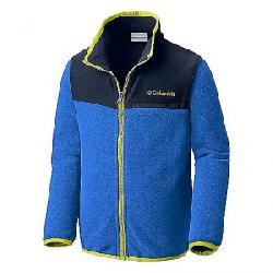 Columbia Youth Mountain Crest Fleece Full Zip Top Super Blue Heather / Coll Navy