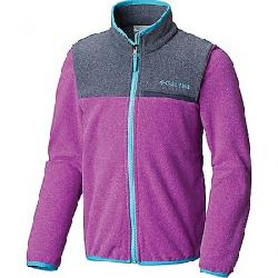 Columbia Youth Mountain Crest Fleece Full Zip Top Bright Plum Heather / Nocturnal
