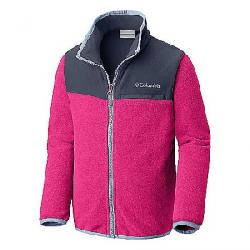 Columbia Youth Mountain Crest Fleece Full Zip Top Cactus Pink Heather / Nocturnal