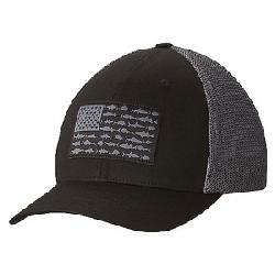 Columbia PFG Mesh Ball Cap Black / Fish Flag