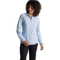 ExOfficio Women's BugsAway Zeta Stripe LS Shirt Chambray