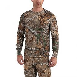 Carhartt Men's Base Force Extremes Cold Weather Camo Crewneck Realtree Xtra