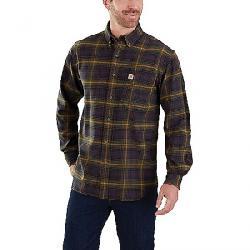 Carhartt Men's Rugged Flex Hamilton Button-Up Plaid Shirt Army Green