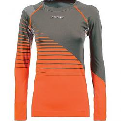 La Sportiva Women's Tune LS Top Carbon / Pumpkin