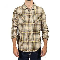 Gramicci Men's General Purpose Flannel Plaid Shirt Bamboo Olive