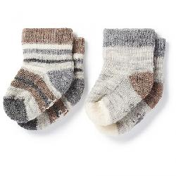 Smartwool Baby Bootie Batch Sock - 2 Pack Fossil Heather