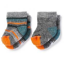 Smartwool Baby Bootie Batch Sock - 2 Pack Medium Grey Heather / Mediterranean H