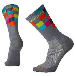 Smartwool PhD Run Ultra Light Logo Crew Sock Graphite