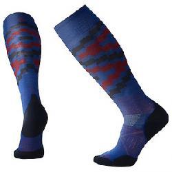 Smartwool PhD Ski Light Elite Sock Dark Blue Pattern