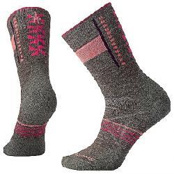 Smartwool Women's PhD Outdoor Medium Pattern Crew Sock Taupe